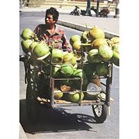 Vendeur de fruits exotiques