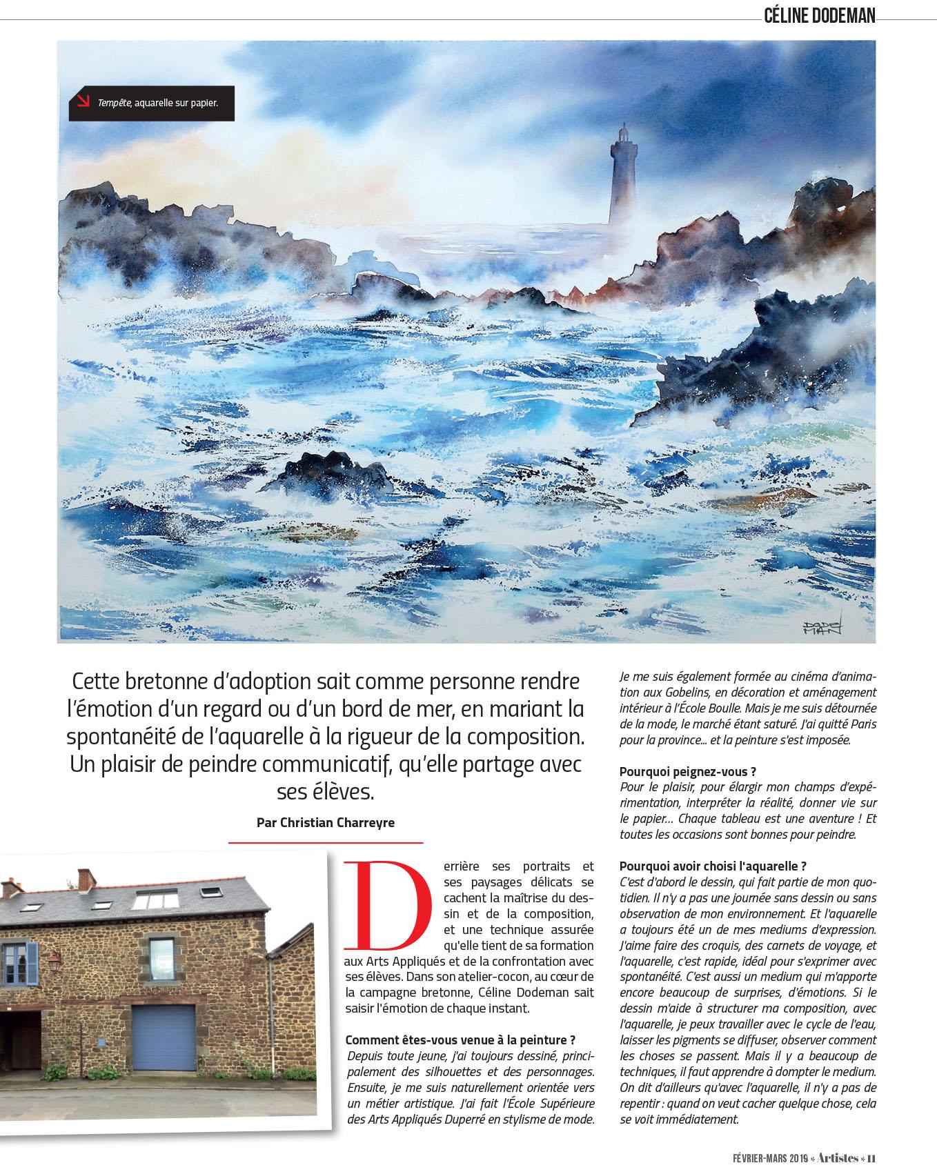 Article dans Artiste Magazine n°7