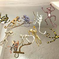 Singes Animaux en papier mâché, modelage, arts plastiques, DIY