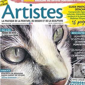 Artiste magazine numéro 11, démonstration d'aquarelle étape par étape, portrait de Bédouins par Céline Dodeman