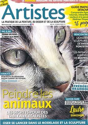 Artiste magazine numéro 11, démonstration d'aquarelle pas à pas portrait de Bédouins par Céline Dodeman