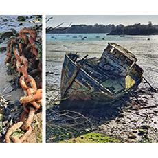 Quelmer, Cours d'aquarelle et dessin en extérieur, mer Bretagne 35, bords de rance, carnet de voyage