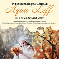 affiche exposition aquarelle aqualeff Bretagne