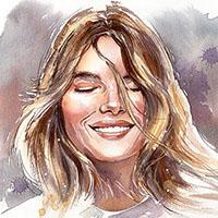 démonstration portrait aquarelle Céline Dodeman